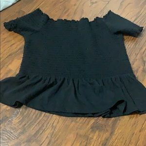 American eagle cute stretchy off the shoulder top